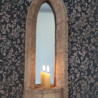 Pretty gothic sconce candle mirror