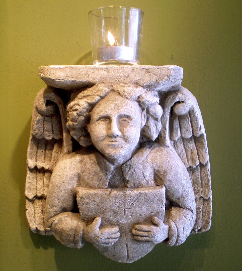 Lovely angel corbel hanging wall decoration candle holder