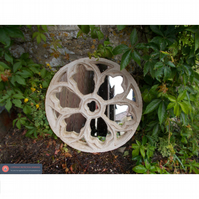 Beautiful round rose gothic church garden mirror