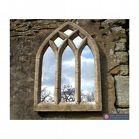 Super triple light gothic arch window garden mirror
