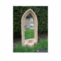 Gorgeous vintage style gothic church sconce garden mirror candle holder