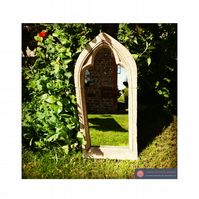 Stunning single arch gothic garden mirror