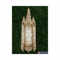 Pretty garden gothic niche castle wall hanging for candle or plant