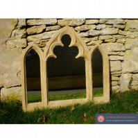 Stunning triple light church arch gothic window garden mirror