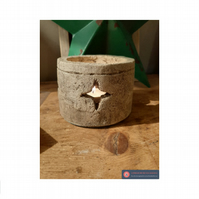 Gorgeous gothic star candle tea light  holder handmade