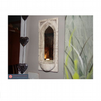 Very pretty handmade small gothic sconce mirror vintage style