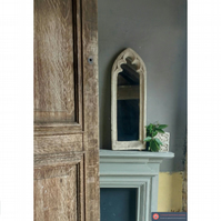 Stunning long trefoil lancet gothic window mirror arch