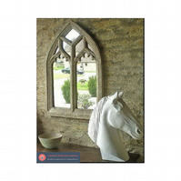 Amazing double light perpendicular gothic vintage arch mirror window