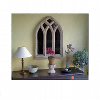 Fabulous triple light arch gothic mirror church window