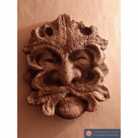 Lovely large green man wall hanging