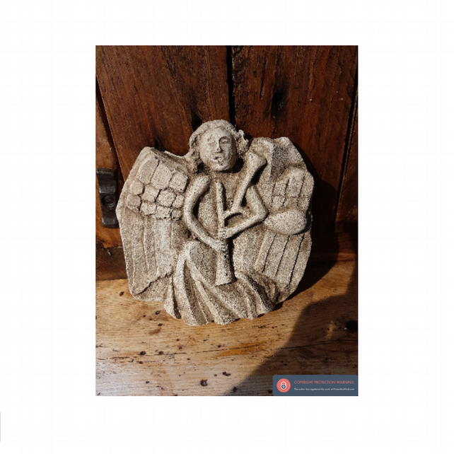 Beautiful angel with bagpipes decorative  wall hanging