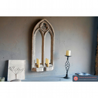 Fantastic small double light sconce mirror