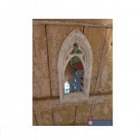Lovely truncatated gothic arch vintage mirror arch