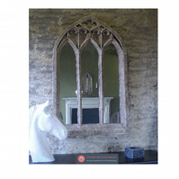 Large and beautiful gothic church arch window mirror