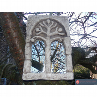 Pretty tree of life stone gothic celtic mirror