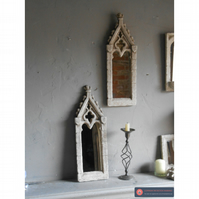 Lovely pair of ornate gothic mirrors