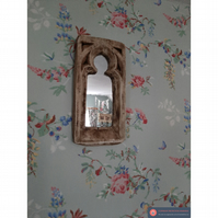 Medium gothic chunky rustic mirror