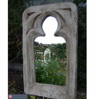 Large rustic chunky gothic mirror interior or garden