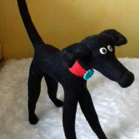 Original Huggyhound Huggypuppy cuddly toy greyhound whippet