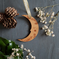 Moon Decoration, Christmas Moon Decoration, Christmas Moon, Moon Decor