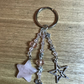 Handbag charm or keyring in rose quartz