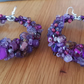 Purple Hoop Amethyst Earrings
