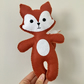 Felt fox soft toy