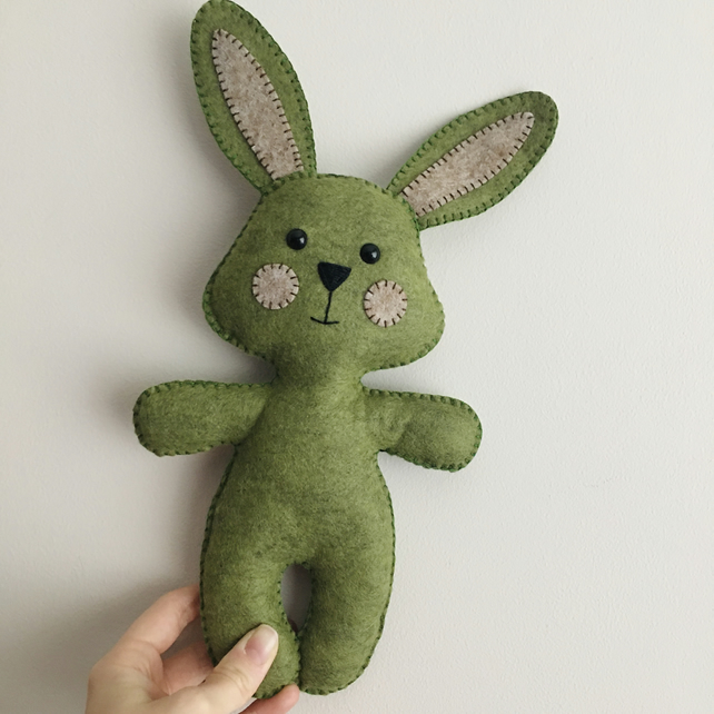 Handmade felt rabbit soft toy