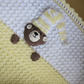 Baby teddy bear crochet blanket