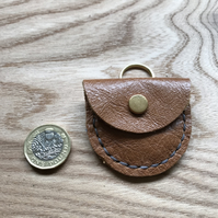 Leather key ring pouch - Teeny tiny pouch for teeny tiny things