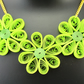 Paper Quilled Floral Necklace