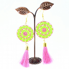 Paper Quilled Earrings with Tassel