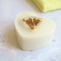 Citrus St Clements Heart Soap