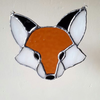 Stained glass fox suncatcher