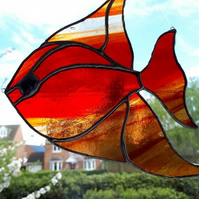 Stained glass angel tropical fish