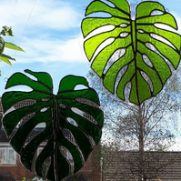 Stained glass Monstera leaves suncatchers