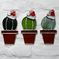 Stained glass Christmas cactus