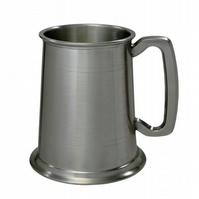 1 Pint Pewter Antique Finish Tankard Personalised Engraved Free