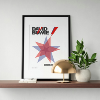 David Bowie Glasgow Barrowland Giclee Print