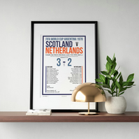 Scotland v Netherlands 1978 World Cup Giclee Print