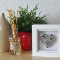 Recycled Magazine Quilled Heart mini box frame