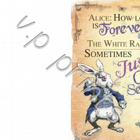 alice in wonderland how long is forever a6 card