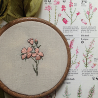Small Botanical Floral Embroidery Hoop
