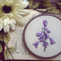Embroidery Bluebells Botanical Floral Embroidery Hoop