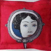 Pincushion With Original Hand Drawn Design On Fabric-Eliza Twist