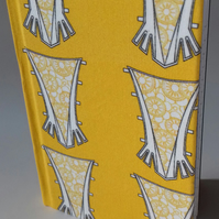 A6 Notebook covered with fabric from original design- Fine work for a seamstress