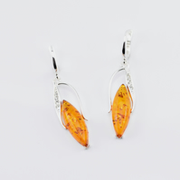 Amber Earrings, Gemstone Earrings, Drop Earrings, Dangle Earrings,