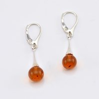 Amber Earrings, Gemstone Earrings, Drop Earrings, Dangle Earrings, Gemstone