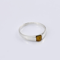 Amber Ring, Amber stone Ring, Gemstone Ring, Natural Amber Ring,