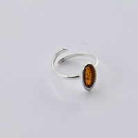 Amber Ring, Amber stone Ring, Orange Amber Ring, Amber Toe Ring, Baby Ring